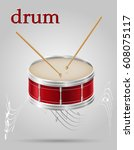 drum  musical instruments stock ... | Shutterstock .eps vector #608075117