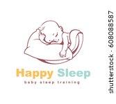 Baby Logo Template. Sleeping...
