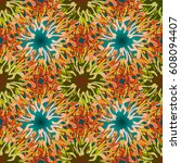 abstract color seamless pattern ... | Shutterstock .eps vector #608094407