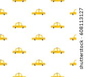 taxi cars cartoon seamless... | Shutterstock .eps vector #608113127