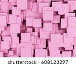 abstract geometric shape from... | Shutterstock . vector #608123297
