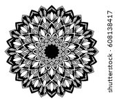 mandalas for coloring book.... | Shutterstock .eps vector #608138417