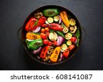 Grilled Vegetables In A Cast...
