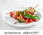 Chicken And Vegetables Kebabs...