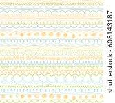 doodle patterns. decoration... | Shutterstock .eps vector #608143187