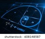 golden ratio concept   3d...   Shutterstock . vector #608148587