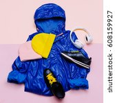 urban street fashion. fashion... | Shutterstock . vector #608159927
