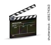 clapper board vector. template... | Shutterstock .eps vector #608174363