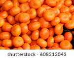 Orange Background Clementines...