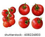 collection of fresh red... | Shutterstock .eps vector #608226803
