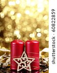 christmas candle decoration on... | Shutterstock . vector #60822859