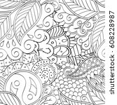 tracery seamless pattern.... | Shutterstock .eps vector #608228987