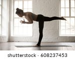 young attractive woman...   Shutterstock . vector #608237453