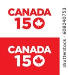 vector canada 150 years graphic.... | Shutterstock .eps vector #608240753