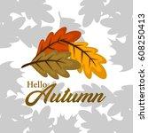 autumn illustration vector | Shutterstock .eps vector #608250413
