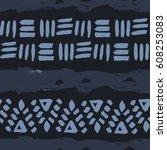 abstract simple vector ethnic... | Shutterstock .eps vector #608253083
