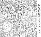 tracery seamless pattern.... | Shutterstock .eps vector #608256353