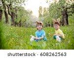 catholic easter tradition egg... | Shutterstock . vector #608262563