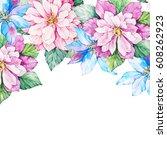 invitation card for wedding... | Shutterstock . vector #608262923