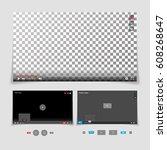 video player interface template ... | Shutterstock .eps vector #608268647
