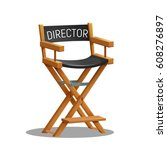 director movie chair isolated... | Shutterstock .eps vector #608276897