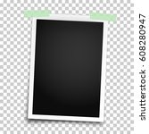 realistic photo frame with... | Shutterstock .eps vector #608280947