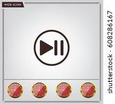 pause button vector icon | Shutterstock .eps vector #608286167