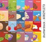 set of food ingredients | Shutterstock .eps vector #608291273