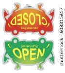 sign on the store door closed... | Shutterstock .eps vector #608315657