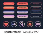 set of colored web buttons.... | Shutterstock .eps vector #608319497