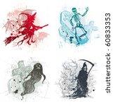 vector halloween hand drawn... | Shutterstock .eps vector #60833353