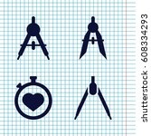 set of 4 precision filled icons ... | Shutterstock .eps vector #608334293