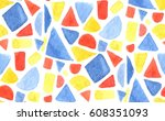 vector watercolor mosaic...   Shutterstock .eps vector #608351093