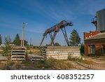 dionstruction of a brick... | Shutterstock . vector #608352257