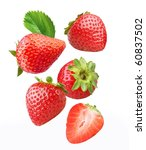 Falling Strawberries With...