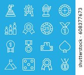 win icons set. set of 16 win... | Shutterstock .eps vector #608377673
