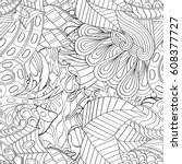 tracery seamless pattern.... | Shutterstock .eps vector #608377727