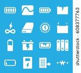 battery icons set. set of 16... | Shutterstock .eps vector #608377763