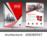 red color scheme with city... | Shutterstock .eps vector #608380967
