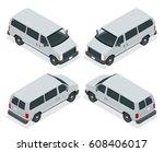 commercial van icons set... | Shutterstock . vector #608406017