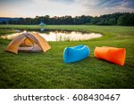 air couch camping 2 | Shutterstock . vector #608430467