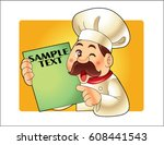 beard chef  | Shutterstock .eps vector #608441543