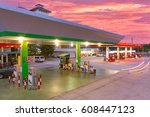 there are two zones   gas... | Shutterstock . vector #608447123