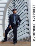 businessman looking forward... | Shutterstock . vector #608448587