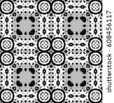 black and white pattern for... | Shutterstock . vector #608456117