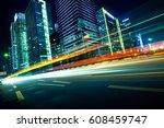 urban roads in the city | Shutterstock . vector #608459747