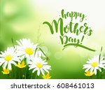 mothers day greeting card with... | Shutterstock .eps vector #608461013