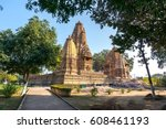 old hindu temple  built by... | Shutterstock . vector #608461193
