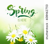 spring sale background with... | Shutterstock .eps vector #608462753