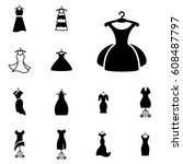 party fashion dress icon or... | Shutterstock .eps vector #608487797